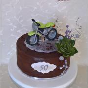 Torta Čokoládová s motortkou k 50tke pre pána