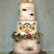 Torta Svadobná vo folklórnom štýle..
