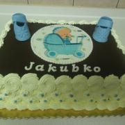 Torta čokoládová na krst