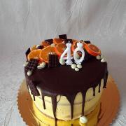 Torta čokoladová s mandarinkou