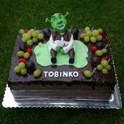 Torta Narodeninová tortička so Shrekom