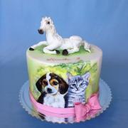 Torta Maľovaná so zvieratkami