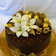 Torta Čokoládová na zlatú svadbu