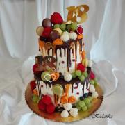 Torta Drip tortička pre dvojčatá k 18 - tke...
