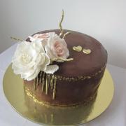 Torta Svadobná darčeková - čokoládová
