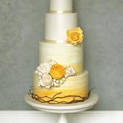 Torta Svadobná žlto biela..
