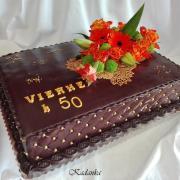 Torta K výročiu  čokoládovo zlatá...