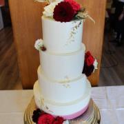 Torta 4 poschodová svadobná