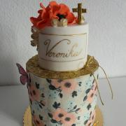 Torta Na krst s jedlým papierom