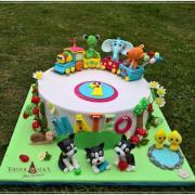 Torta Pre Matea s vláčikom a zvieratkami