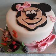 Torta myška minnie pre laurinku...