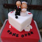 Torta Svadba v červenom