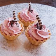 Torta malinové košíčky