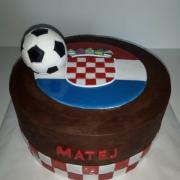 Torta pre malého fanúšika chorvátskeho futbalu