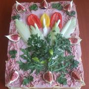 Torta vnučke Gabike k ,,19,,-slaná