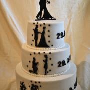 Torta svadobná so siluetami