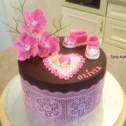Torta Čokoládová na krst ♥
