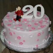 Torta Narodeninová k 20tke