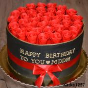 Torta box ruží