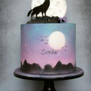Torta Vlk a mesiac