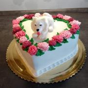 Torta Srdce so psíkom...