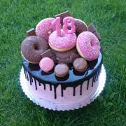Torta Narodeninová tortička s donutkami