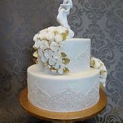 Torta bielozlatá svodobná torta