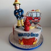 Torta Požiarnik Sam pre Matúška
