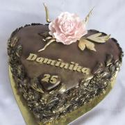 Torta Srdce pre Dominiku
