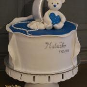 Torta Macko s hviezdnym nebom na krstiny