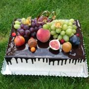 Torta Čokoladová tortička s ovocím 1