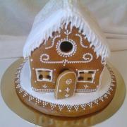 Torta Moja prvá chalupka a naše medovníčky