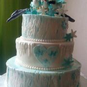 Torta Zimná svadba