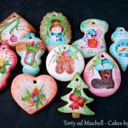 Torta Maľované vianočné medovníky ... :)