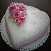 Torta Srdiečko k 50