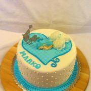 Torta Krstinová pre chlapčeka
