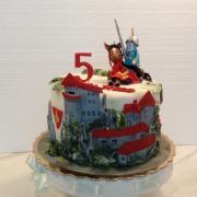 Torta Na želanie rytier s mečom na hrade