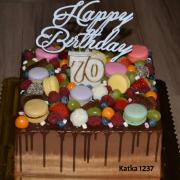 Torta k 70.narodeninám