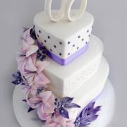 Torta Svadobná s fialovým nádychom