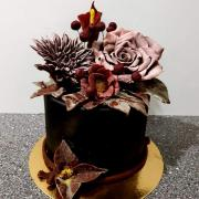 Torta čokoládové kvety