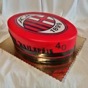 Torta Pre fanúšika futbalového klubu  AC Miláno...