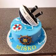 Torta titanic podľa predlohy