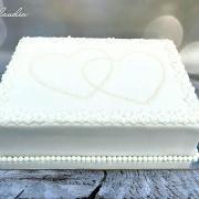 Torta svadobná na rozkrájanie do výslužiek
