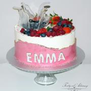 Torta ... tortička v kréme s ovocím ...