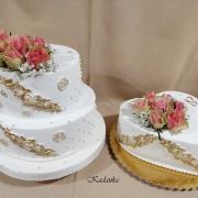 Torta Svadobné bielo zlaté do daru...