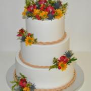 Torta Svadobná tortička so živými kvetmi