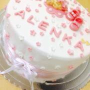 Torta Krstinová pre Alenku