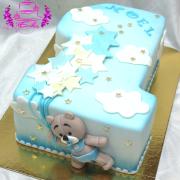 Torta Narodeninová jednotka s macíkom