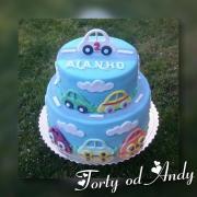 Torta Narodeninová tortička autíčka