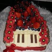 Torta Klavir s ovocim